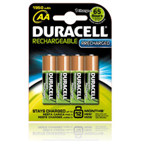 Duracell StayCharged PreCharged paristot
