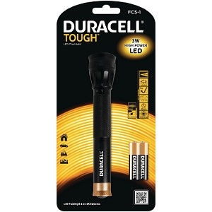 Duracell Focus Beam LED Lamppu & 2 AA