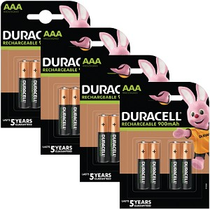 Duracell Pre-Charged AAA 800mAh 16 Pack