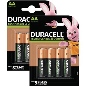 Duracell PreCharged AA 2500mAh x 8