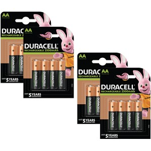 Duracell PreCharged AA 2500mAh x 16