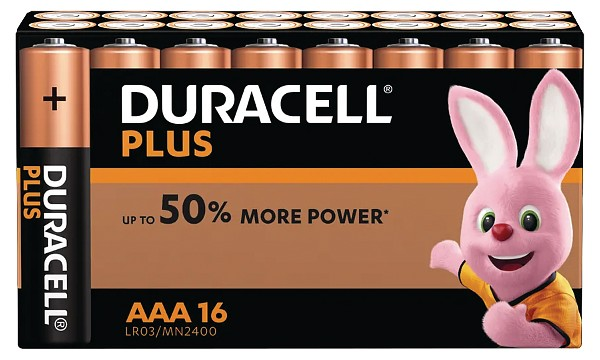 Duracell Plus Power AAA 16kpl