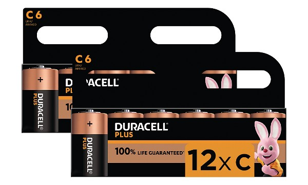 Duracell Plus Power C-koko (12 kpl)