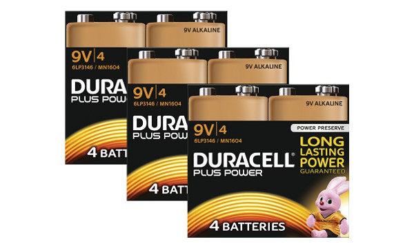 Duracell Plus Power 9v 12 kpl