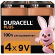 Duracell Plus Power 9v 4 kpl